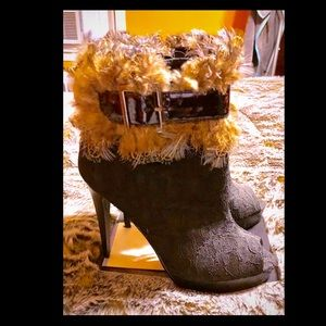 Too Fringe Bootie by 2 Lips Too